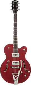 Musical Instruments:Electric Guitars, 1996 Gretsch Tennessee Rose Burgundy Semi-Hollow Body ElectricGuitar, Serial # 9611119-1527....