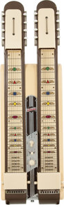 Musical Instruments:Lap Steel Guitars, Circa 1952 National Double Neck Blonde Console Steel Guitar, Serial# X46543....