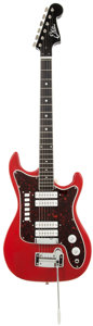 Musical Instruments:Electric Guitars, 1968 EKO Condor Ferrari Red Solid Body Electric Guitar....