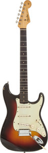 Musical Instruments:Electric Guitars, 1961 Fender Stratocaster Sunburst Solid Body Electric Guitar,Serial # 69140....