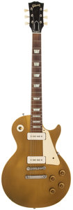 Musical Instruments:Electric Guitars, 1955 Gibson Les Paul Standard Gold Solid Body Electric Guitar,Serial # 511830....