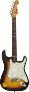 Musical Instruments:Electric Guitars, 1964 Fender Stratocaster Sunburst Solid Body Electric Guitar,Serial # L22452....