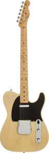 Musical Instruments:Electric Guitars, 1953 Fender Telecaster Blonde Solid Body Electric Guitar, Serial # 3552....
