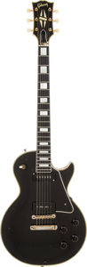 Musical Instruments:Electric Guitars, 1956 Gibson Les Paul Custom Black Solid Body Electric Guitar,Serial # 614650....