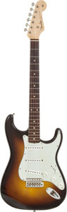 Musical Instruments:Electric Guitars, 1960 Fender Stratocaster Sunburst Solid Body Electric Guitar,Serial # 47253....