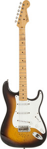 Musical Instruments:Electric Guitars, 1956 Fender Stratocaster Sunburst Solid Body Electric Guitar,Serial # 12363....