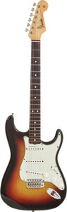 Musical Instruments:Electric Guitars, 1965 Fender Stratocaster Sunburst Solid Body Electric Guitar,Serial # L64500....