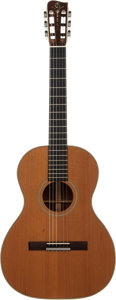 Musical Instruments:Acoustic Guitars, Merle Watson's 1972 Gallagher CL-70 Natural Classical Guitar, Serial # 421. ...