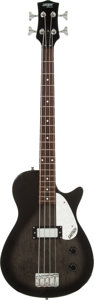 Musical Instruments:Bass Guitars, 2000's Gretsch Electromatic Black Electric Bass Guitar, Serial # CYG07061641....