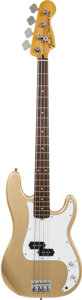 Musical Instruments:Bass Guitars, 2000's Fender Parts Precision Bass Gold Electric Bass Guitar....