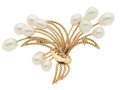 Estate Jewelry:Brooches - Pins, Freshwater Cultured Pearl, Gold Brooch. ...