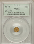 California Fractional Gold: , 1872 25C Indian Octagonal 25 Cents, BG-791, R.3, MS62 PCGS. PCGSPopulation (41/188). NGC Census: (8/49). ...