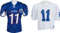 Football Collectibles:Uniforms, 2004 Daunte Culpepper Game Worn Pro Bowl Jersey and Practice Jersey....