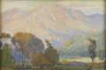American:Impressionism, FRED GRAYSON SAYRE (American 1879-1939). Afternoon Glow, LaCresenta, Cal.. Gouache on paper. 10in. x 15in.. Signed lowe...