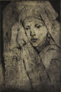 American:Western, GENE KLOSS (American 1903-1996). Tribal Memory. Intaglio,aquatint on paper. 15.5in. x 10.75in.. Signed in pencil lower ...