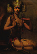 Paintings, ANSELMO MIGUEL NIETO (Spanish 1881-1964). Exotic Beauty, c.1920. Oil on canvas. 40in. x 32in. (sight size). Signed lower...