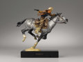 Bronze:Western, HARRY JACKSON (American b. 1924). Pony Express III, 1977.Polychrome bronze. 8.25in. x 11in. x 6.5in.. Signed and dated ...