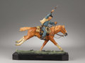 Sculpture, HARRY JACKSON (American b. 1924). The Marshall III (John Wayne), 1979. Polychrome Bronze. 11in. x 11in. x 3.5in.. Signed... (Total: 1 Item Item)
