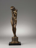American:Academic, HARRIET WHITNEY FRISHMUTH (American 1880-1980). Reflections,1930. Bronze. 16in. x 4in. x 5in.. Signed on rear of base. ...