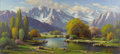 American:Impressionism, PAUL GRIMM (American 1891-1974). God's Creation. Oil oncanvas. 32in. x 72in.. Signed lower left. ...