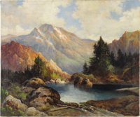 ROBERT WILLIAM WOOD (American 1889 -1979) Among the Rockies, 1942 Oil on canvas 25in. x 30in. Signed and dated lower