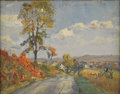 American:Impressionism, WALTER EMERSON BAUM (American 1884-1956). Country Road. Oilon canvas. 11.75in. x 15in.. Signed lower right. ...