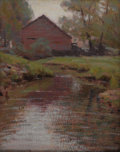 American:Impressionism, GEORGE HERBERT MACCRUM (American b. 1888). Autumn Stream.Oil on board. 10.25in. x 8in.. Signed lower right. An Americ...