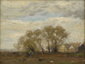 American:Impressionism, HENRY WARD RANGER (American 1858-1916). The Willows. Oil on board. 12in. x 16in.. Artist stamp lower left. One of the ...