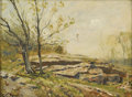 American:Impressionism, HENRY WARD RANGER (American 1858-1916). Landscape. Oil onboard. 12in. x 16in.. Signed lower left and stamped lower righ...