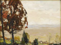 American:Impressionism, CHAUNCEY FOSTER RYDER (American 1868-1949). Oak Tree on theHill. Oil on canvas. 12in. x 16in.. Signed lower left. A l...