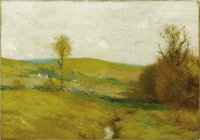 """BRUCE CRANE (American 1857-1937) Mohawk Valley Oil on canvas 14in. x 20in.  Bruce Crane was described in 1894 as """"a..."""