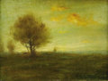 American:Impressionism, JOHN FRANCIS MURPHY (American 1853-1921). Landscape. Oil on canvas. 8.25in. x 11in.. Signed lower right. ...