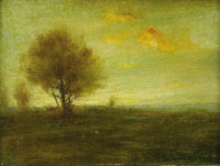 JOHN FRANCIS MURPHY (American 1853-1921) Landscape Oil on canvas 8.25in. x 11in. Signed lower right