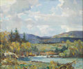 American:Impressionism, WALTER GRANVILLE-SMITH (American 1870-1938). Across theValley, 1934. Oil on canvas. 25in. x 30in.. Signed and datedlow...