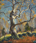 American:Impressionism, EMILE ALBERT GRUPPE (American 1896- 1978). Fall Birches. Oilon canvas. 30in. x 25in.. Signed lower right. ...
