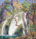 American:Impressionism, NAN SHEETS (American 1885-1976). Turner Falls, 1930. Oil oncanvas. 24in. x 22in.. Signed lower right; signed and titled...