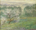 American:Impressionism, JOHN MODESITT (American b.1955). Apple Orchard - Giverny.Oil on board. 20.25in. x 24.25in.. Signed lower right. ...