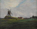 Texas:Early Texas Art - Impressionists, GEORGE HERBERT MACCRUM (American b. 1888). Landscape withWindmill. Oil on board. 8in. x 10in.. Provenance: The Estate...