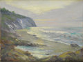 American:Impressionism, THOMAS O. SHECKELL (American 20th Century). Low Tide. Oil oncanvasboard. 8in. x 10in.. Signed lower right. Thomas She...