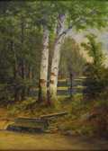 American:Impressionism, Attributed to JOHN JOSEPH ENNEKING (American 1841-1916). Maud'sSpring. Oil on canvas. 25in. x 18in.. Carved into stretc...