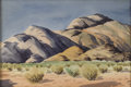 American:Regional, ART LANDY (American 1904-1977). Desert Mountains, Mohave,California. Watercolor on paper. 22in. x 15in.. Signed lowerr...