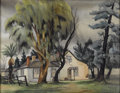 American:Regional, ART LANDY (American 1904-1977). Dana Homestead. Watercoloron paper. 22in. x 28in.. Signed lower right. ...