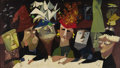 Paintings, WARD KIMBALL (American 1914-2002). The Committee, 1949. Oil on masonite. 24in. x 42in.. Signed lower right. ...