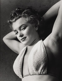 PHILIPPE HALSMAN (American 1906-1979) Portrait of Marilyn Monroe Photograph 9.75in. x 12.5in. Edition: 150/250 Hal