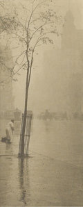 Photographs, ALFRED STIEGLITZ (American 1864-1946) . Spring Showers, 1900 . Photogravure . 9in. x 3.5in. . ... (Total: 1 Item Item)