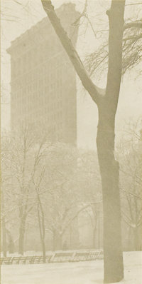 ALFRED STIEGLITZ (American 1864-1946) The Flatiron Building, 1903 Photogravure 6.75in. x 3.25in