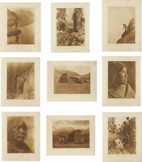 EDWARD S. CURTIS (American 1868-1952) The North American Indian, Large Plates (Group of 36, plus the title page, and the...