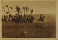 EDWARD S. CURTIS (American 1868-1952) Bringing the Sweat-Lodge Willows-Piegan (plate 205), 1900 Vintage photogravure
