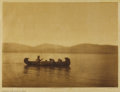 Photographs:19th Century, EDWARD S. CURTIS (American 1868-1952) . Crossing the Lake Kutenai (plate 252), 1910 . Vintage photogravure print on pape...