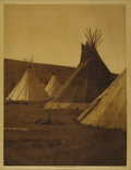 Photographs, EDWARD S. CURTIS (American 1868-1952) . Atsina Camp (plate 175), 1908 . Vintage photogravure print on paper . 16in. x 11... (Total: 1 Item Item)